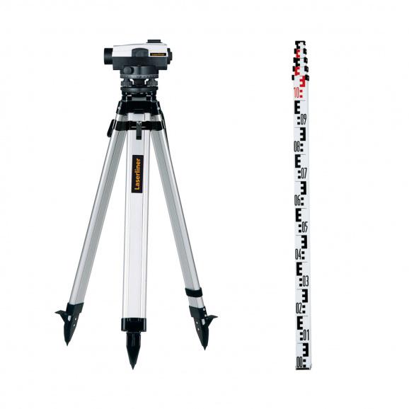 Оптичен нивелир LASERLINER AL 26 Plus set, увеличение 26x, стандартно отклонение 1.5 mm/km