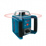 Ротационен лазерен нивелир BOSCH GRL 400 H, червен лазер клас 2, обхват 400m, точност 0.5mm/10m, автоматично