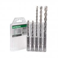 Свредла HITACHI 6.0-10мм 5части, за бетон, HM, 2 режещи ръба, SDS-plus