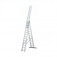 Алуминиевa стълба ELKOP VHR P 3х15, 6643/7943/10454мм(на стълбата), трираменна, професионална, 150кг.