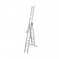 Алуминиевa стълба KRAUSE Tribilo 3х12, 3400/5800/8600мм, трираменна, професионална, 150кг.