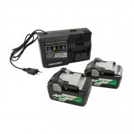 Батерия акумулаторна HIKOKI BSL36A18х2 + UC18YSL3, 36/18V, 2.5/5.0Ah, Li-Ion, к-кт