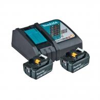 Батерия акумулаторна MAKITA BL1850Bx2 + DC18RC, 18V, 5.0Ah, Li-Ion, к-кт