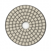 Диск за полиране EHWA 100х1.5мм P0000, за сухо полиране на гранит, мрамор и подова мозайка, черен