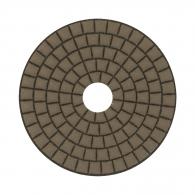 Диск за полиране EHWA 100х1.5мм P100, за сухо полиране на гранит, мрамор и подова мозайка, жълт