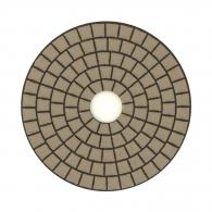 Диск за полиране EHWA 100х1.5мм P1500, за сухо полиране на гранит, мрамор и подова мозайка, светло син