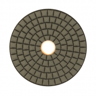 Диск за полиране EHWA 100х1.5мм P200, за сухо полиране на гранит, мрамор и подова мозайка, оранжев