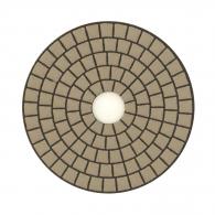 Диск за полиране EHWA 100х1.5мм P3000, за сухо полиране на гранит, мрамор и подова мозайка, кафяв