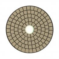 Диск за полиране EHWA 100х1.5мм P800, за сухо полиране на гранит, мрамор и подова мозайка, зелен