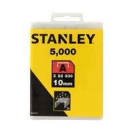 Кламери STANLEY 53/10мм 5000бр., тип 53/A, тънка тел, кутия