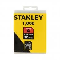 Кламери STANLEY 53/10мм 1000бр., тип 53/A, тънка тел, кутия