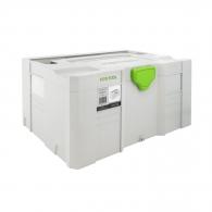 Куфар за инструменти FESTOOL SYS-MIDI 3 TL, пластмаса, бял