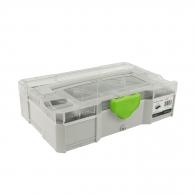 Куфар за инструменти FESTOOL SYS-MINI 1 TL TRA UNI, пластмаса, бял