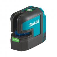 Линеен лазерен нивелир MAKITA SK106GDZ, 12V, 2.0-4.0Ah, 3 лазерни линии, точност 3mm/10m, автоматично