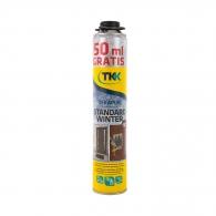 Полиуретанова пяна TKK Tekapur Standard Best Seller 50ml GRATIS, 750+50мл, пистолетна, зимна (от -10°C до +35°C)