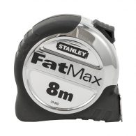 Ролетка пласмасов корпус STANLEY FatMax 8м x 32мм, гумирана, хромиран, EC-клас 2