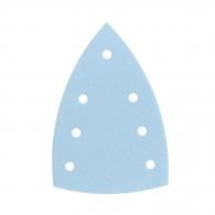 Шкурка велкро FESTOOL Granat DELTA 7 100х150мм P120, за лак и боя, с 6+1 отвора, синя, триъгълна, самозалепваща