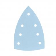 Шкурка велкро FESTOOL Granat DELTA 7 100х150мм P150, за лак и боя, с 6+1 отвора, синя, триъгълна, самозалепваща