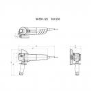 Ъглошлайф METABO WEV 850-125, 850W, 3000-11500об/мин, ф125мм - small, 133756