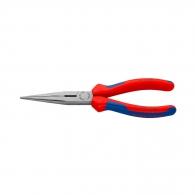 Клещи жустерни KNIPEX 200мм, прави, CrV, полукръгли плоски челюсти, двукомпонентна дръжка