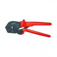 Клещи кербовъчни KNIPEX 0.1-2.5мм2, за неизолирани кабелни накрайници, AWG 27-13, еднокомпонентни дръжки