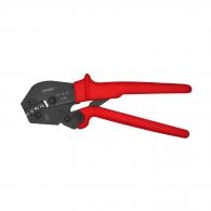 Клещи кербовъчни KNIPEX 0.5-6.0мм2, за неизолирани кабелни накрайници, AWG 20-10, едникомпонентни дръжки