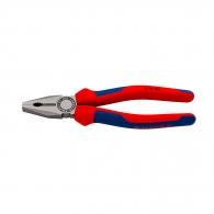 Клещи комбинирани KNIPEX 200мм, ф2.5/3.8мм, ф13мм/16мм2, CS, двукомпонентна дръжка