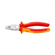 Клещи комбинирани KNIPEX 200мм 1000V, ф2.5/3.8мм, ф13мм/16мм2, CS, двукомпонентнa дръжкa
