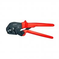 Клещи кербовъчни KNIPEX 1.72, 5.4, 6.48мм, за изолирани кабелни накрайници: RG 58, RG 59, RG 62, RG 71, RG 223