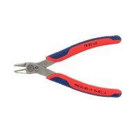 Клещи резачки KNIPEX ф0.2-1.6/125мм - мини, INOX, двукомпонентна дръжка