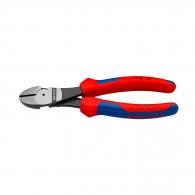 Клещи резачки KNIPEX ф1.5-3.1/140мм - усилени, CrV, двукомпонентна дръжка