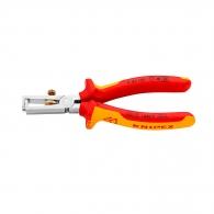 Клещи за заголване на кабели KNIPEX 0.5-10кв.мм/160мм, регулиращ винт, CS, двукомпонентна дръжка, 1000V