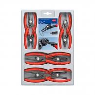 Клещи зегер KNIPEX 10-60/130-140-165-180мм комплект 8бр., за отвор и вал, прави и извити