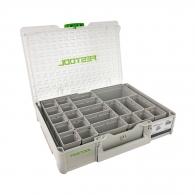 Куфар за инструменти FESTOOL SYS3 ORG M 89 22xESB, пластмаса, бял