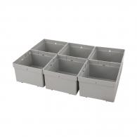 Кутия за куфар за инструменти FESTOOL Box 100x100x68мм 6части, пластмаса, бял