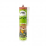 Лепило TKK Garden Floorfix 290мл - кафяво, за бързо фиксиране и залепване на каучукови подови елементи