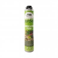 Полиуретанова пистолетна пяна TKK Garden Landscaping Foam 750мл, за изграждане и поправка на каменни стени и елементи