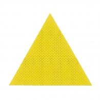 Шкурка велкро FLEX 300x300х300мм Р180, за гипсокартон, перфорирана, жълта, триъгълна, самозалепваща