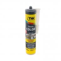 Силикон неутрален TKK Tekasil Color 300мл-aнтрацит, за уплътняване на фуги в бани, кухни, душ кабини, мивки и други