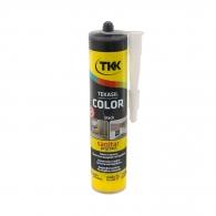 Силикон неутрален TKK Tekasil Color 300мл-черен, за уплътняване на фуги в бани, кухни, душ кабини, мивки и други