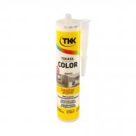 Силикон неутрален TKK Tekasil Color 300мл-жасмин, за уплътняване на фуги в бани, кухни, душ кабини, мивки и други