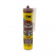 Силикон неутрален TKK Tekasil Color 300мл-кафяв, за уплътняване на фуги в бани, кухни, душ кабини, мивки и други