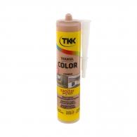 Силикон неутрален TKK Tekasil Color 300мл-карамел, за уплътняване на фуги в бани, кухни, душ кабини, мивки и други