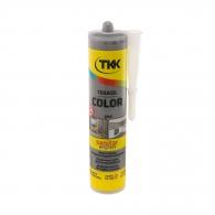 Силикон неутрален TKK Tekasil Color 300мл-сив, за уплътняване на фуги в бани, кухни, душ кабини, мивки и други