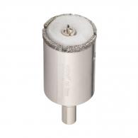 Боркорона с прахообразен диамант WOLFCRAFT 68х70/45мм, с цилиндрична опашка ф10мм, за керамика, фаянс, теракот и порцелан
