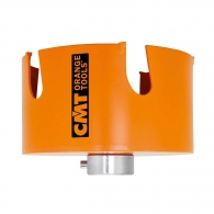 Боркорона с твърдосплавни пластини CMT FASTX4 25мм, за дърво, пластмаса, тухла и суха стена, сухо пробиване