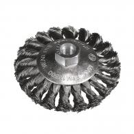 Четкa дисковa HIKOKI ф100мм/М14, за ъглошлайф, стоманена, усукана тел