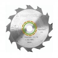 Диск с твърдосплавни пластини FESTOOL 160/2.2/20 Z=12, за рязане на мека и твърда дървесина