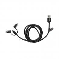 Кабел заряден USB LASERLINER 3в1, версия 2.0, тип A, 1.5м
