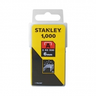 Кламери STANLEY 53/6мм 1000бр., тип A/53, плоска тел, кутия